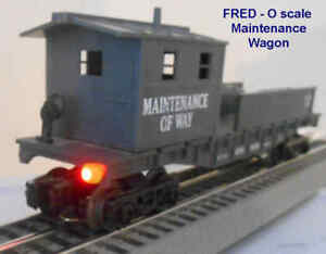 End Of Train Device for O & S Scale with Flashing Red LED Kit