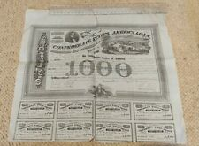 More details for us confederate bond issued 1863 with 8 coupons attached
