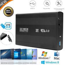 3.5'' USB 3.0 SATA Hard Drive Disk External Enclosure SSD HDD Case Caddy Box UK