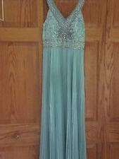 Sue Wong Aqua Beautifully Beaded Size 6 Pleated Long Dress Semi Formal So Pretty