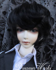 Mimi Collection MSD 1/4,7-8inch SD BJD Doll Black Short Curling Hair Wig