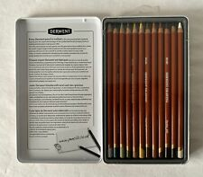 BN Tin Soft Derwent Earth Tone LARGE 5mm Lead Core Drawing 12 Pencils 0700851