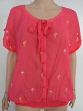 Camisas y tops de mujer blusa de color principal multicolor de chifón