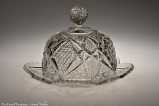 c. 1897 No. 15048 PENNSYLVANIA AKA BLADER by US Glass  CRYSTAL Butter Dish
