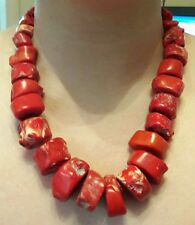 Vintage Genuine Chunky Coral Necklace