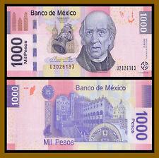Mexico 1000 (1,000) Pesos, 2013 P-127d Serie D Miguel Hidalgo Unc