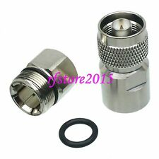 "1pce Connector N male plug clamp 1/2"" corrugated cable RF COAXIAL Silver"