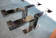1003-601: Set of Mid-Century Modern Chrome Legs for Floating Glass Coffee Table