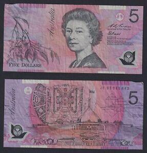 Australia 5 Dollars 1995 (1996) Polymer BB / VF C-07