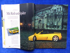Ferrari 348 Spider - Fahrbericht - Auto Motor Sport Heft 13 / 1993