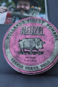 Reuzel Pomade Pink 340 Size Strong Hold Little Gloss