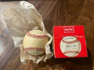 Vintage Official American League Baseball Rawlings Lee MacPhail, with box 74-83