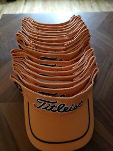 Titleist Visor Hat Orange Golf Visor Adjustable - Great Condition!