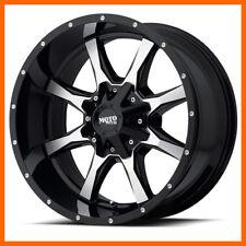 17x9 Moto Metal MO970 5,6,8 Lug 4 New Black Wheels Rims FREE Caps Lugs Stems