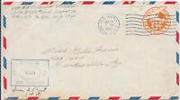 U.S.A. CENSORED COVER 16/1/1945 U.S.A.P.S.CANCEL ON 6c MONOPLANE;CENSOR 44470.