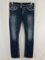 Silver Tuesday Womens Denim Blue Jeans Size 29 x 33 Boot Cut Med Wash Low Rise