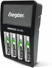 Energizer Rechargeable AA AAA Battery Charger & 4 AA NiMH Rechargeable Batteries