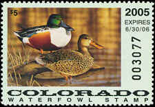 COLORADO #16 2005 STATE DUCK NORTHERN SHOVELER  by Jeffrey Klinefelter