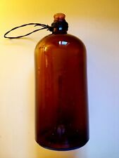 Vintage Bottle Medical / Science 13 inches tall x 5 1/2 wideAmber Brown Color