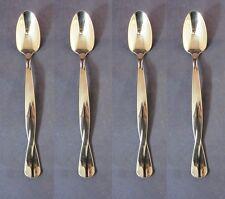SET OF FOUR - Oneida Stainless TORSADE Iced Tea Spoons * USA