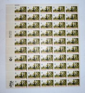 1973 Mint Sheet Stamps Patriot Drummer 50 x .08c Spirit Independence
