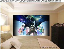 LEGO BATMAN VINYL POSTER WALL ART 100cm wide