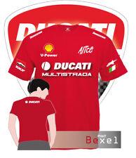 T Shirt Printed  Ducati Multistrada Racing Motorbike Moto GP Maglia Cotone 100%