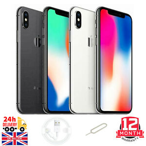 Apple iPhone X - 64GB/256GB - Space Grey/Silver (Unlocked) A1901 (GSM) Very Good