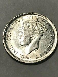 1940-C New Foundland 5 Cent Silver AU #17469