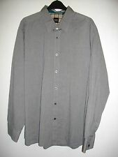 * Hugo Boss * Gris Oxford Camisa Manga Larga Calce Regular Tamaño XXL RRP £ 85