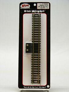 "ATLAS HO CODE 100 STRAIGHT 9"" TERMINAL TRACK nickel silver rail black ATL840 NEW"