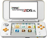 New Nintendo 2DS XL Orange + White Handheld Gaming System! RARE AND DISCONTINUED
