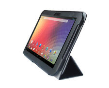 Faux Leather Case Cover for Samsung Google Nexus 10 Tablet - Black