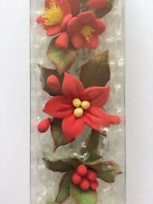 4 Mini Poinsettia Sugar Flower Sprays Christmas Cake Decorations