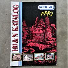 POLA 1990 RAILWAY TRAIN HO & N Scale Model Diorama Katalog Product Catalogue