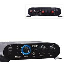 Pyle Bluetooth Mini Blue Compact Amplifier, Push-Type Speaker Terminals  90 WATT