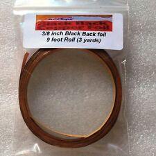 (9 foot roll) 3 yards of 3/8 inch BLACK BACK Copper Foil Tape ~VENTURE