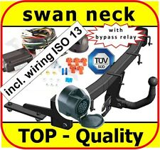 Towbar & Electric ISO 13pin VW Caddy Van 2004 - onwards / swan neck Tow Bar
