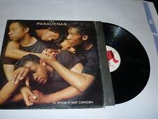 THE PASADENAS - To Whom It May Concern - 1988 UK LP