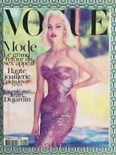 VOGUE PARIS French n°921 Oct 2011 Sasha Pivovarova Bijou Kate Moss Jean Dujardin