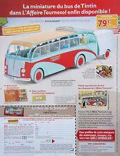 page de publicité  SORTIE MINIATURE BUS DE  TINTIN   en 2014 ref. 42847