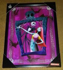 New Nightmare Before Christmas 3D Frame Shadow Box Jack & Sally Wall Comic Decor