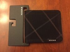 Nixon Tree Hugger Black Stripe Mens Bifold Wallet *New with Tags*