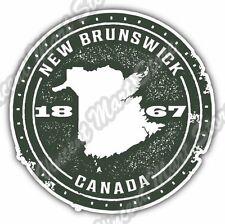 "New Brunswick Canada Country Map Grunge Stamp Bumper Vinyl Sticker Decal 4.6"""