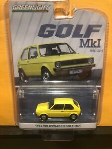 1/64 GREENLIGHT 1974-2019 VOLKSWAGEN GOLF MK1 YELLOW