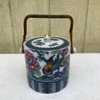 Antique Losol Ware Biscuit Barrel Canister Keeling Co Shanghai Burslem England