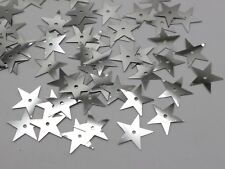 2000 Silver 14mm Flat Star Loose sequins Paillettes Sewing Wedding Craft