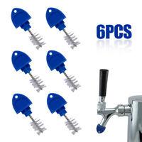 6Pcs Beer Faucet Brush Caps Plug Tap Clean Sanitary Kegerator Tool Bar Kitchen