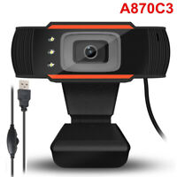 Rotatable USB 2.0 HD Webcam PC Digital Camera Video Recording With Microphone