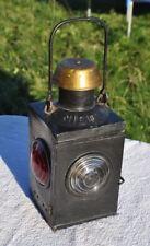 1900s France French NICOLN DEPOSE Railway Railroad Hand Oil Lamp